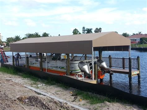 boat dock cover boat dock covers coastal canvas awning