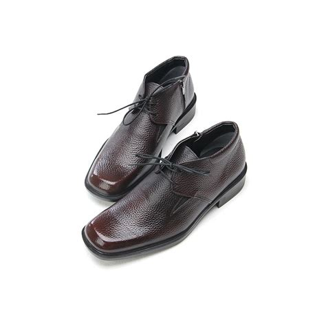 square toe dress boots for mens mens square toe cow leather ankle dress shoes