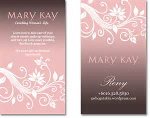 Mary Kay Business Card Template Marykay Business Card My Art Corner