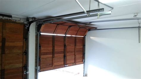 wooden sectional garage doors wooden sectional garage door automated youtube