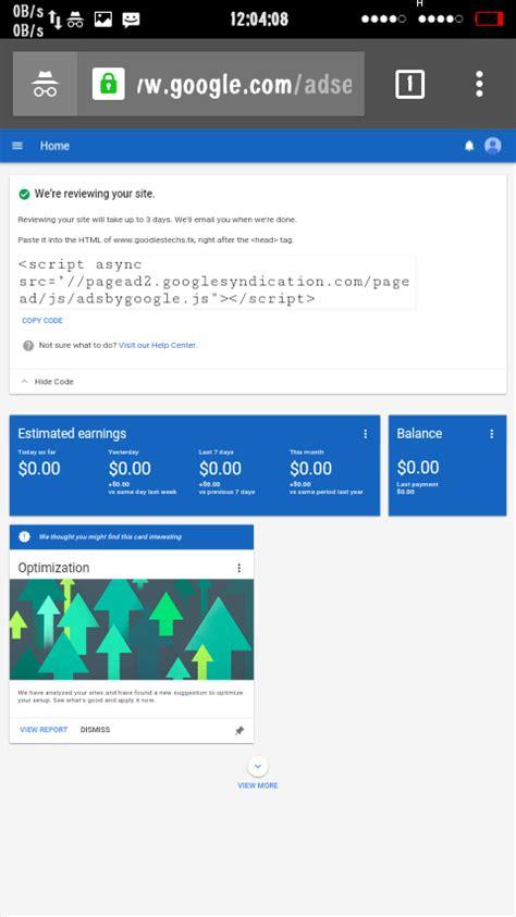 adsense nigeria have i been approved for google adsense screenshots
