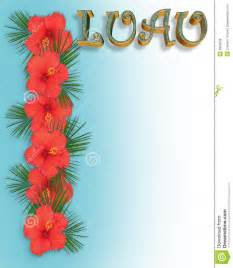 hibiscus border luau invitation stock illustration image