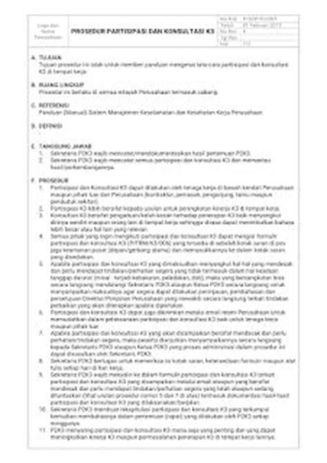 contoh manual pedoman sistem manajemen k3 pdf