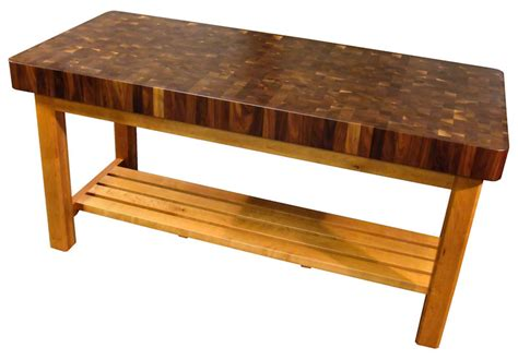 Kitchen Island Or Table by Walnut Butcher Block Chopping Table With Cherry Base