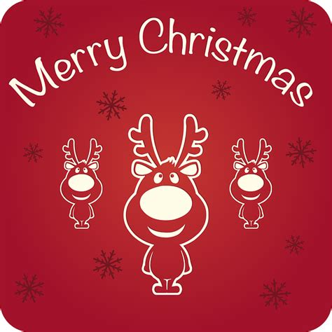 merry christmas happy holidays  vector graphic  pixabay