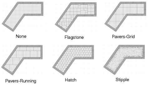 line pattern vectorworks creating hardscape objects