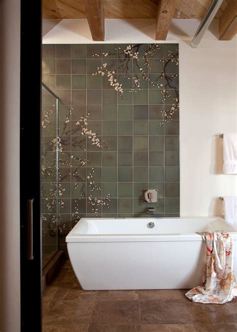 Good Looking Green and Brown Bathroom with Wall Sconce