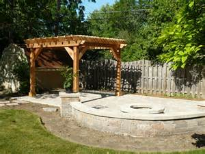 Backyard Gas Grill Pergolas And Pavers Traditional Patio Chicago By