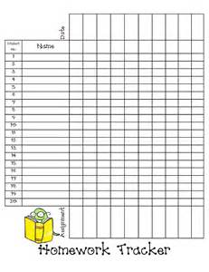 tracking sheet template for teachers homework tracker sheet pdf back to school