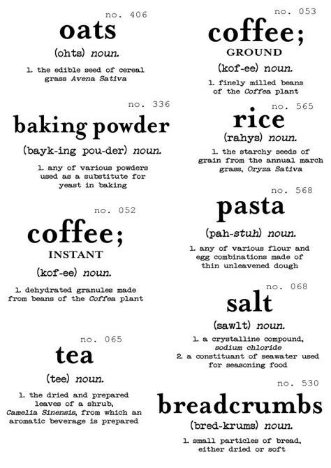 amazon com basics definition vintage font flour sugar oats rice printables for your pantry printables pinterest
