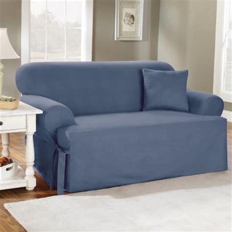 sofa cover t cushion sure fit cotton duck t cushion sofa slipcover walmart com