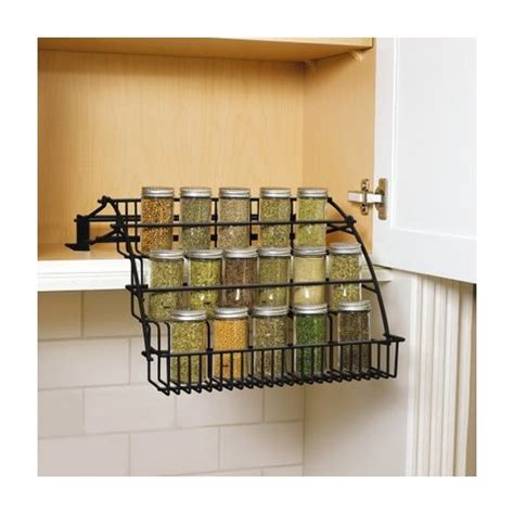 rubbermaid kitchen cabinet organizers rubbermaid pull down spice rack black target