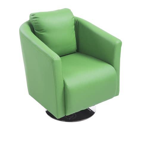 swivel barrel club chair aosom homcom pu leather tub barrel club arm swivel