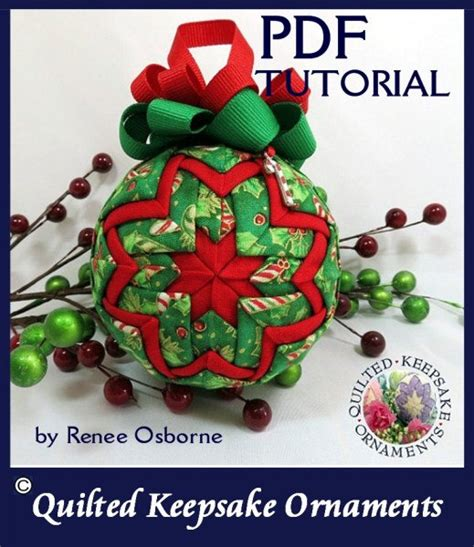 how to make quilted keepsake ornaments pdf tutorial diy