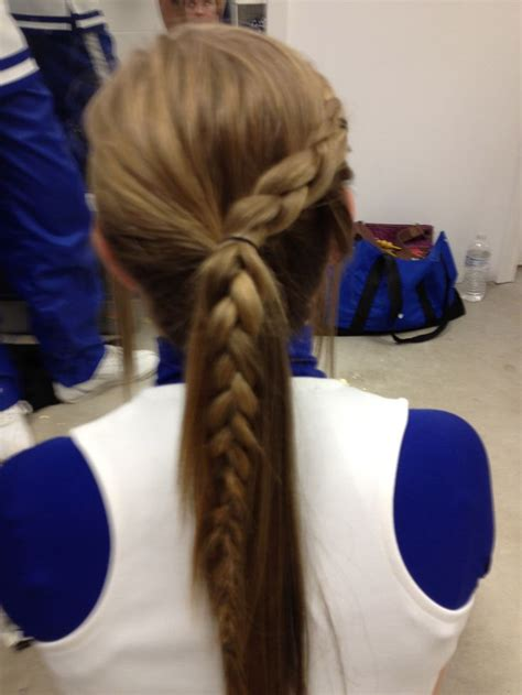 cute hairstyles for volleyball 91 best cheer hair images on pinterest cheer stuff