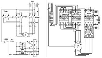 delta starter connection diagram electrical