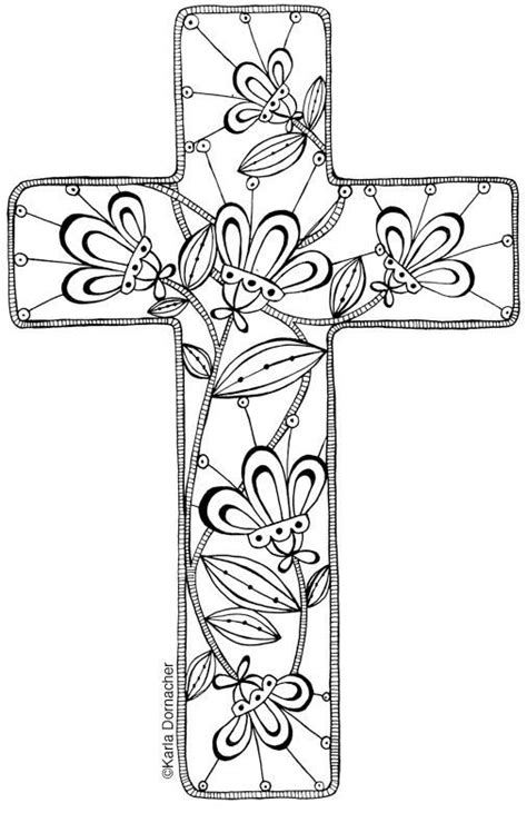 Cross Adult Coloring Birthday Cards Coloring Pages Coloring Page Of A Cross