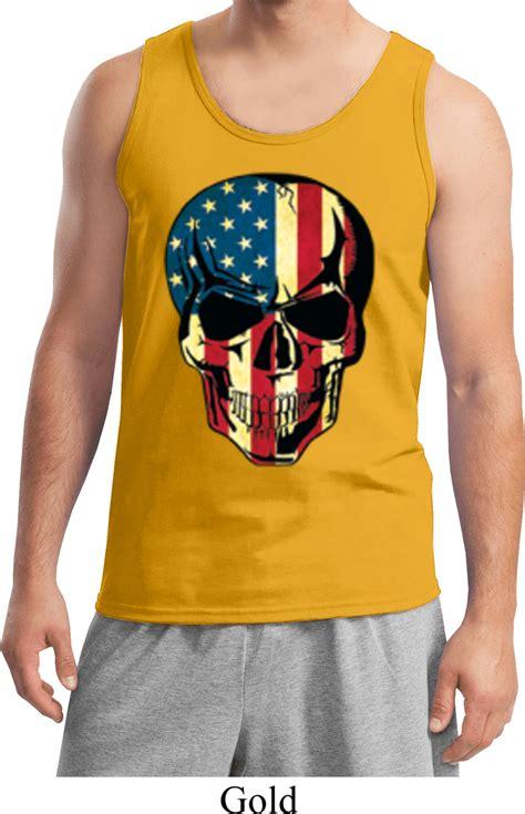 usa skull mens tank top usa skull mens shirts