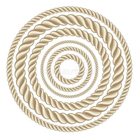 canapé cercle corde cerchio illustrazione vettoriale illustrazione