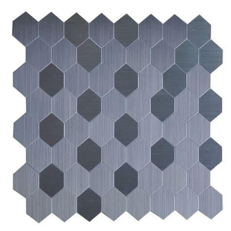 peel and stick instant mosaic peel and stick metal wall tile 2 in x 6