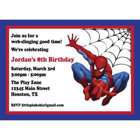40th birthday ideas birthday invitation templates spiderman