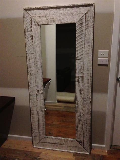 wood frames for bathroom mirrors mirror frame i made from old fence palings and finished