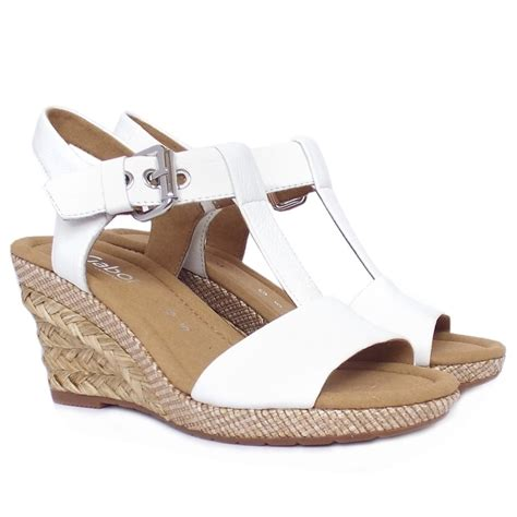 womans wedge sandals gabor s woven raffia wedge sandals in white
