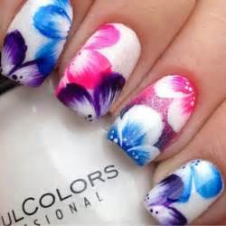 Simple and easy flower nail art designs for beginners