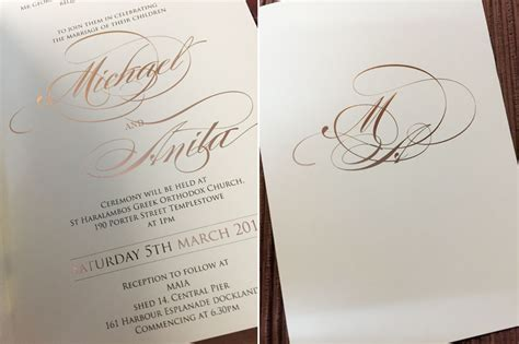 wedding invitation article 10 marvellously metallic wedding invitations articles easy weddings