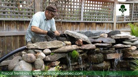 cascade de bassin construire une cascade de jardin en
