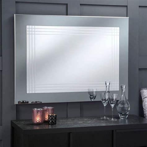 large grey framed contemporary wall mirror modern mirror