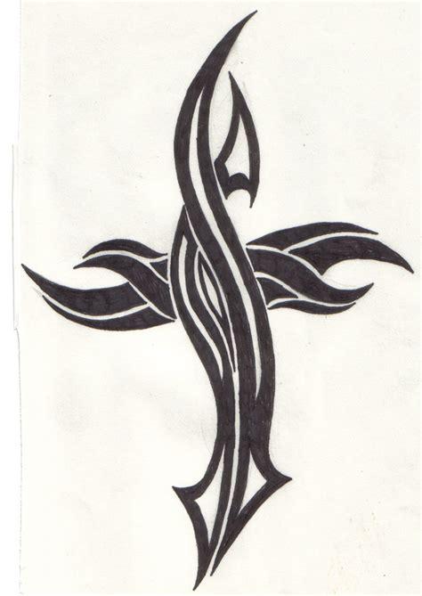 tattoo cross tribal design tribal cross by reaperxxiv on deviantart