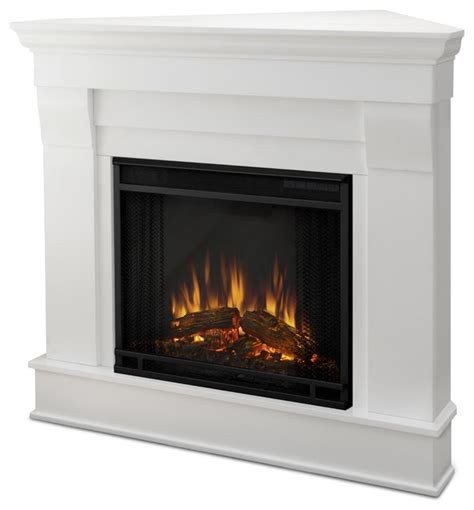 modern corner electric fireplace real chateau white electric corner fireplace