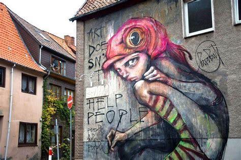 large street art painting  graffiti artists herakut
