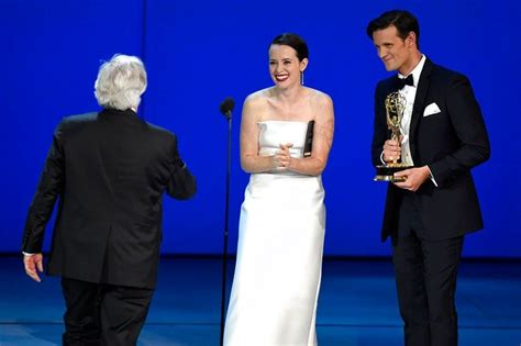 matthew rhys emmys win claire foy and matthew rhys win top drama acting emmys