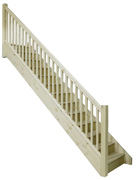 Straight Stairs by Straight Staircases Staircase Kit Oak Straight Stairs