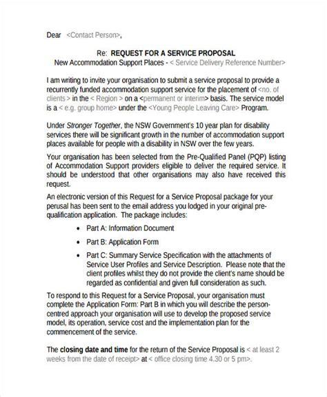 design service proposal letter 11 service proposal exles sles