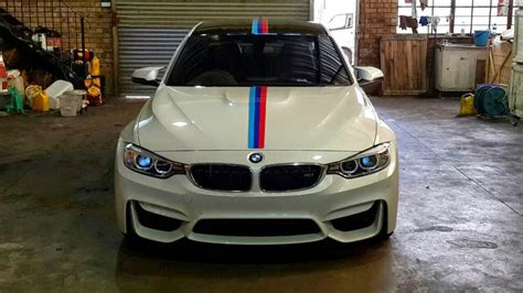 Motor Radical South Africa by White Bmw M3 Gets Centre Motorsport Stripe In South Africa