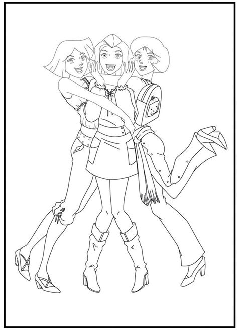 Coloring Page 12 Spies by 20 Best Totally Spies Images On Totally Spies