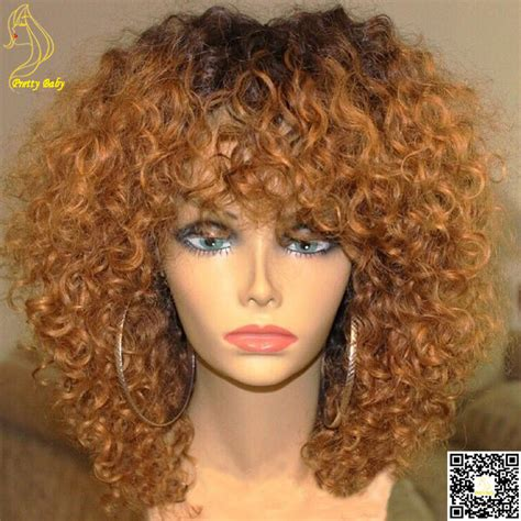 hair dye for kinky hair com honey blonde ombre full lace human hair wigs glueless