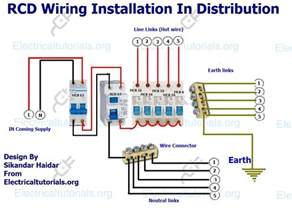 rcd wiring installation in single phase distribution board electrical tutorials urdu