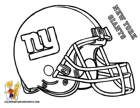 ny giants  printable coloring helmet entertain