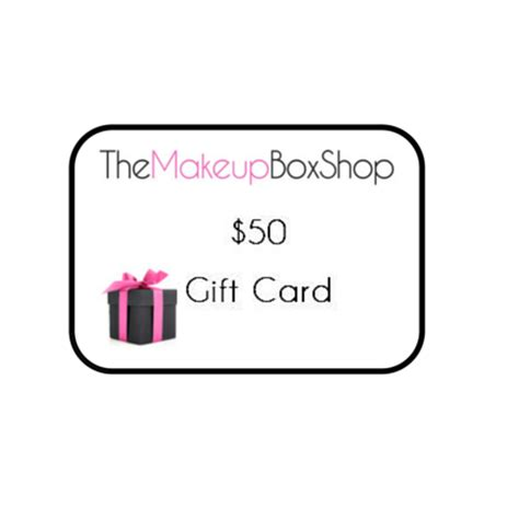 50 Gift The Shop 50 gift card the makeup box shop