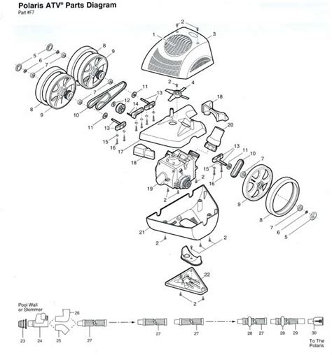 polaris pool parts diagram polaris pool cleaner parts diagram car interior design