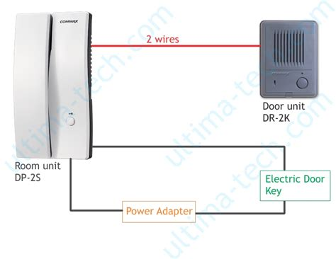 commax door phone and door bell kit dp 2s dr 2k