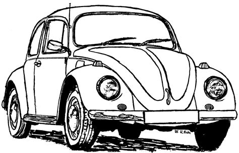 printable coloring pages vw bug free coloring pages of vw beetle hot rod