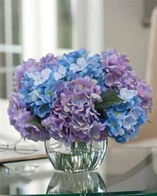 silk flower centerpieces easily decorate with hydrangea silk flower centerpiece at