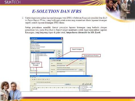 E Solution Financial Standar Program Sertifikasi Internasional software akuntansi esolution ifrs sertif internasional