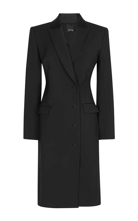 Dress Coats lyst josh goot tuxedo tailoring breasted coat dress in black