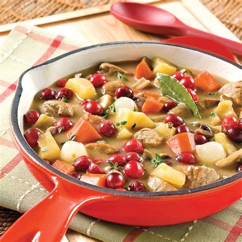 cuisine et mijot駸 mijot 233 de porc aux pommes et canneberges recettes